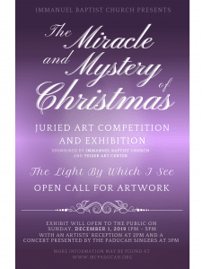 The Miracle and Mystery of Christmas Art Exhibition @ Immanuel Baptist Church